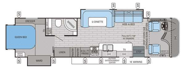 Floorplan - 2015 Jayco Precept 35UN