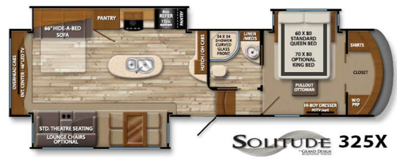 Floorplan - 2015 Grand Design Solitude 325X