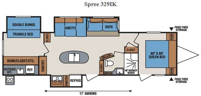 Floorplan - 2016 KZ Spree 329IK