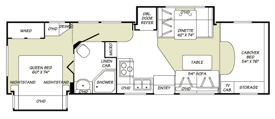 Floorplan - 2007 Fleetwood RV Jamboree 31M