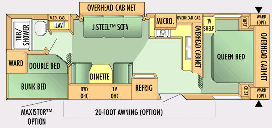Floorplan - 2007 Jayco Jay Flight 29 BHS