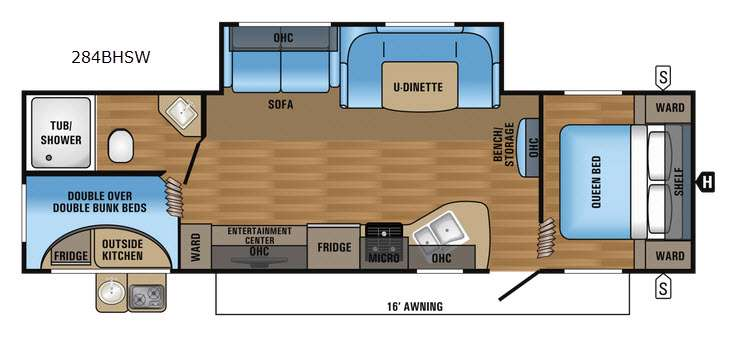 Floorplan - 2017 Jayco Jay Flight SLX 284BHSW