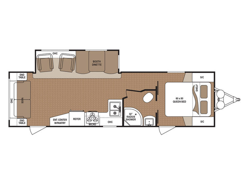 Floorplan - 2017 Dutchmen RV Aspen Trail 2860RLS