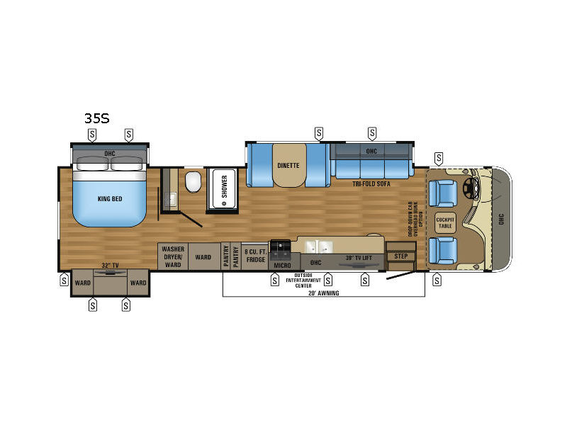 Floorplan - 2017 Jayco Precept 35S