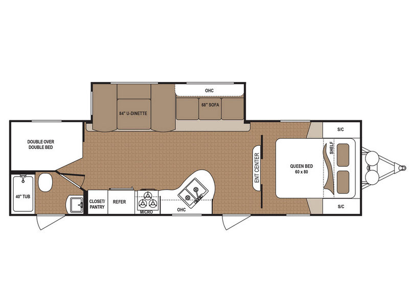 Floorplan - 2017 Dutchmen RV Aspen Trail 2810BHS