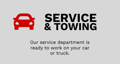 Service & Towing - Our Service Department is ready to work on your car or truck.