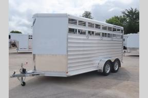Used 2019 Fabrique Feather Lite 9651 Horse Trailer Photo