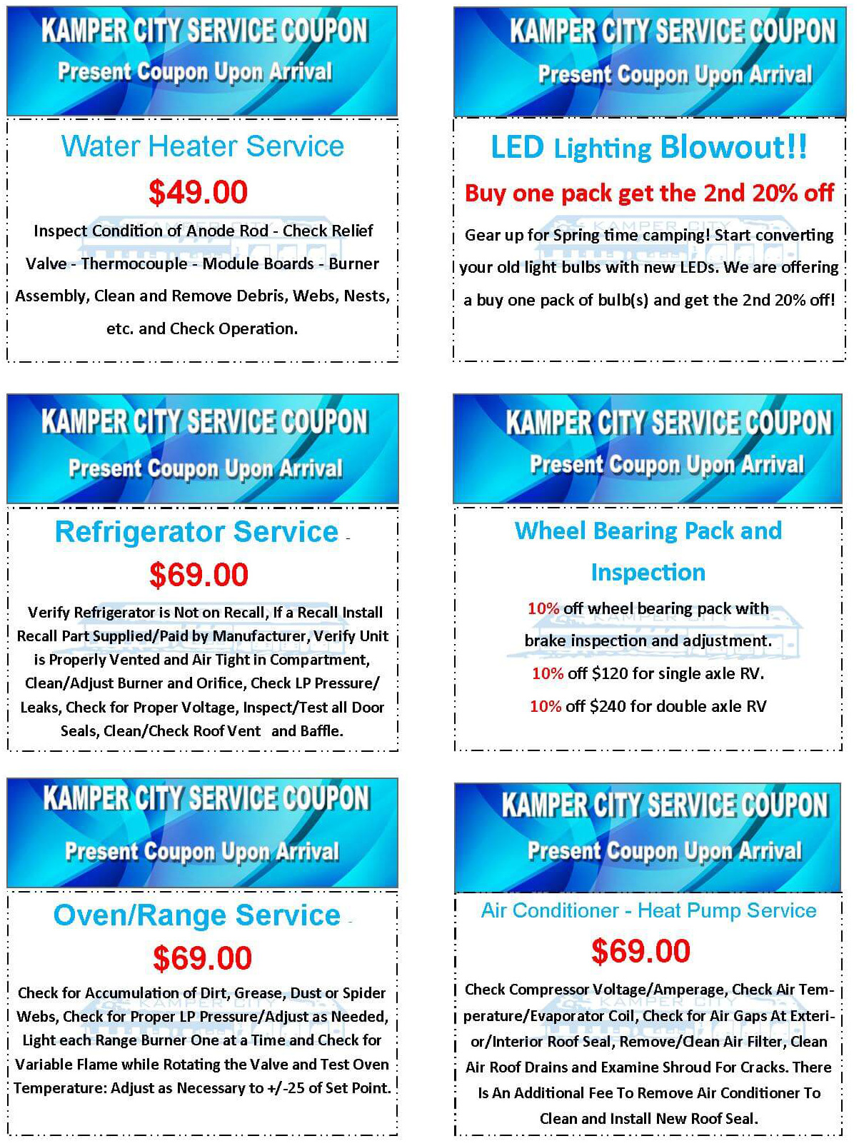 Service Special Coupons