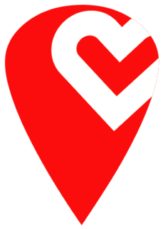Heart Icon Map Pin