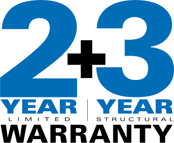 2 year limited + 3 year structural warranty