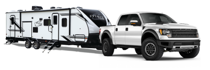 Truck with RV