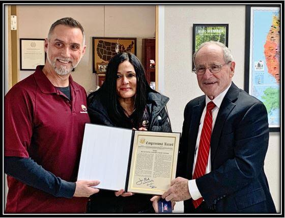 Owners receiving congressional award