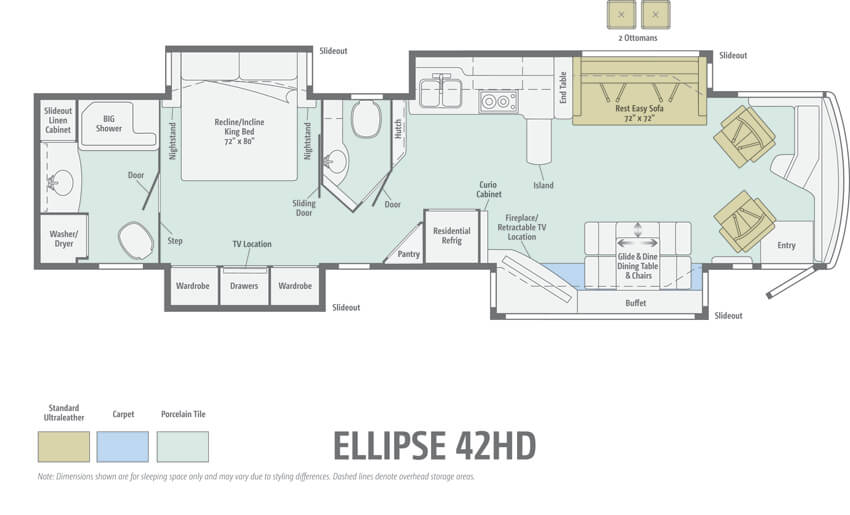Itasca Ellipse 42HD Floorplan