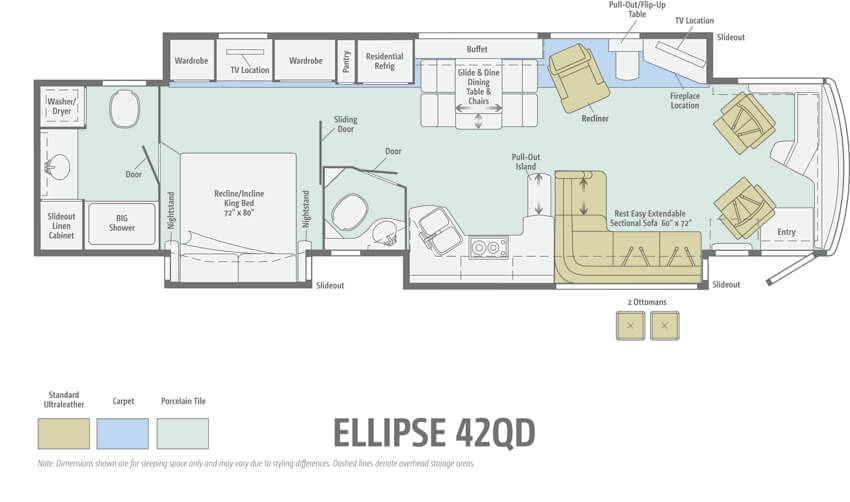 Itasca Ellipse 42QD Floorplan