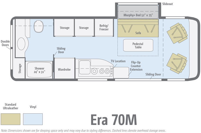 Winnebago Era 70M Floorplan