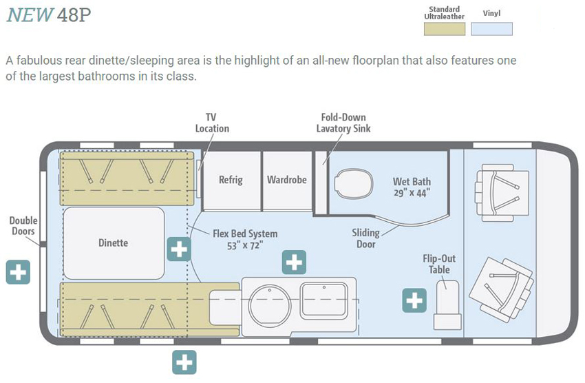 Winnebago Paseo 48P Floorplan