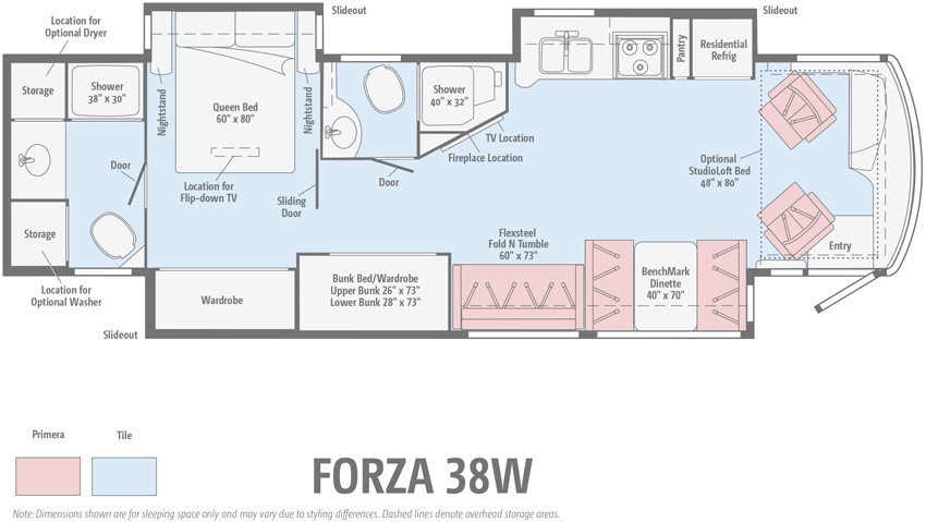 Winnebago Forza 38W Floorplan