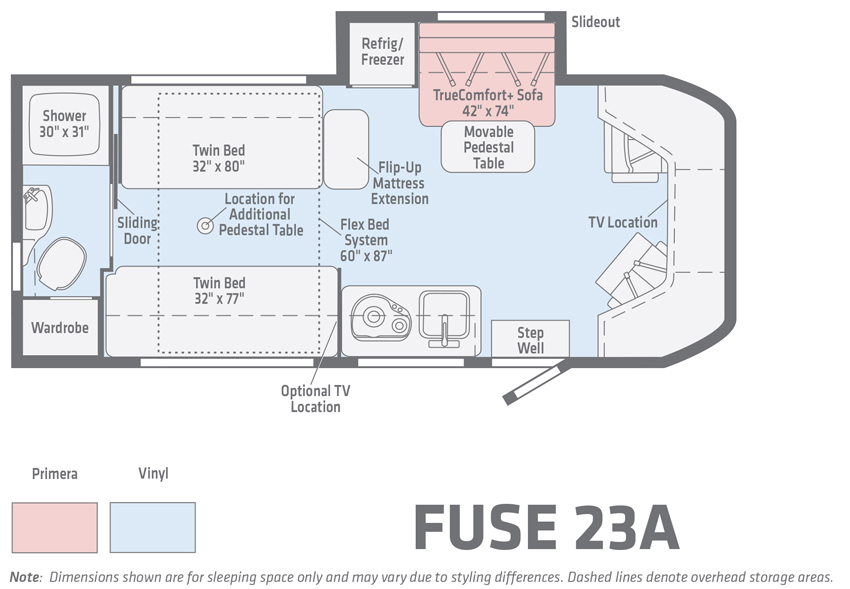 Winnebago Fuse 23A Floorplan