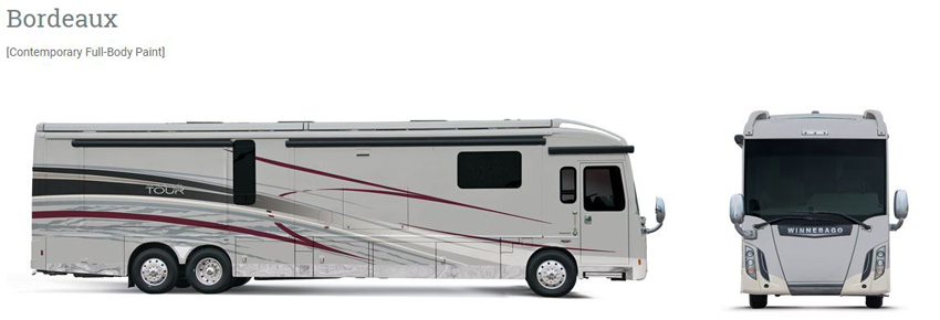 Winnebago Grand Tour Bordeaux Exterior