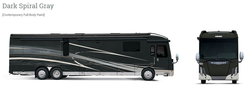Winnebago Grand Tour Dark Spiral Gray Exterior