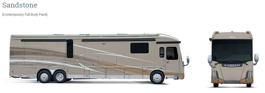 Winnebago Grand Tour Sandstone Exterior