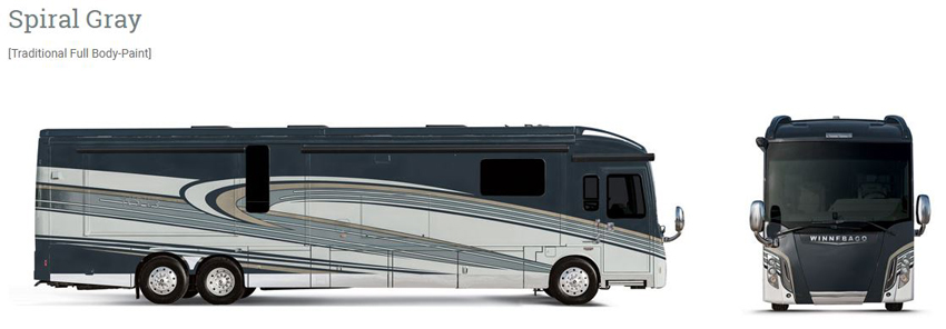 Winnebago Grand Tour Spiral Gray Exterior