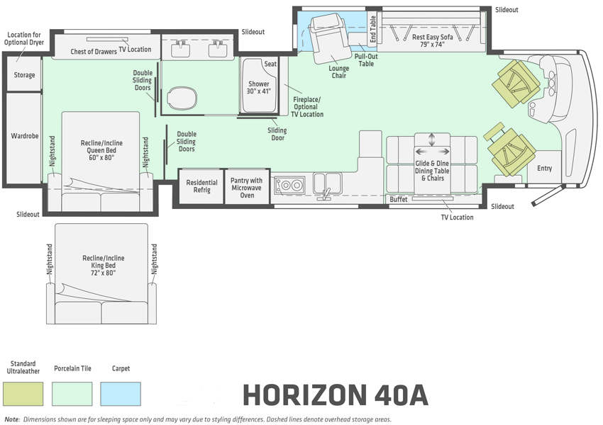 Winnebago Horizon 40A Floorplan