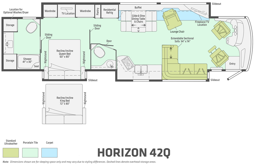Winnebago Horizon 42Q Floorplan