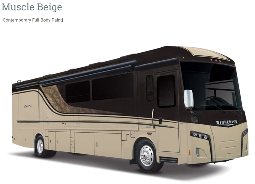 Winnebago Muscle Beige Exterior Option