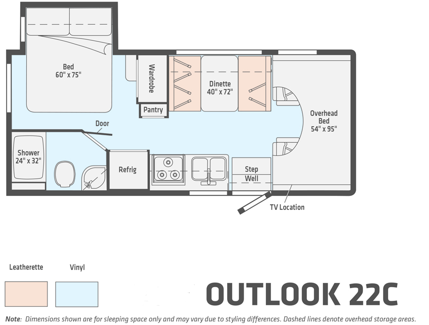 Winnebago Outlook 22C Floorplan