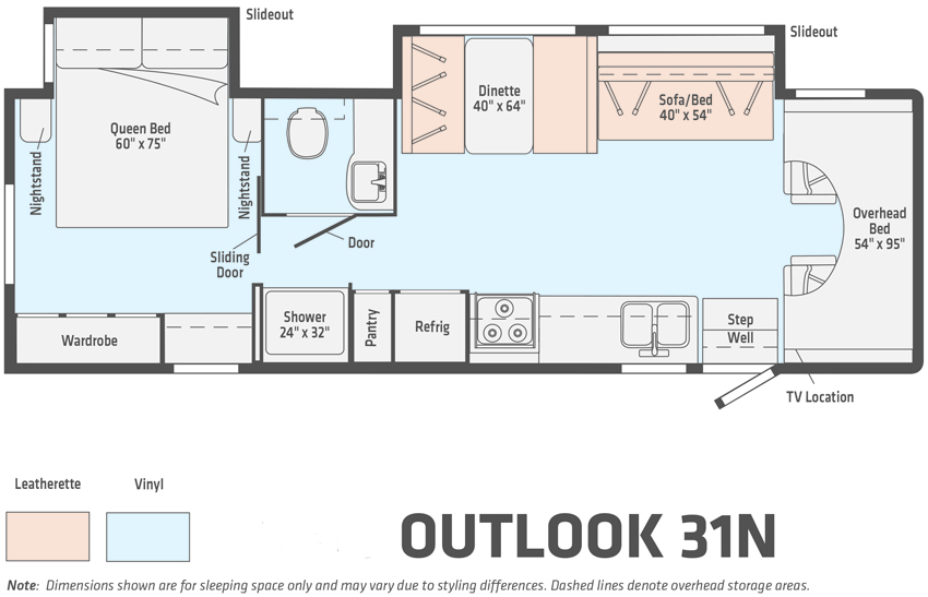 Winnebago Outlook 31N Floorplan