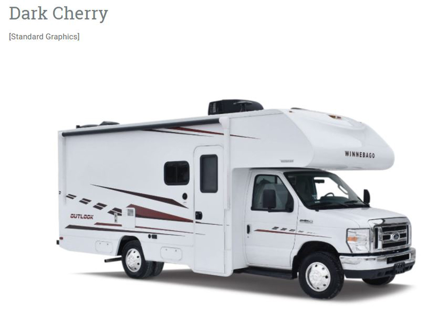 Winnebago Outlook Dark Cherry Exterior