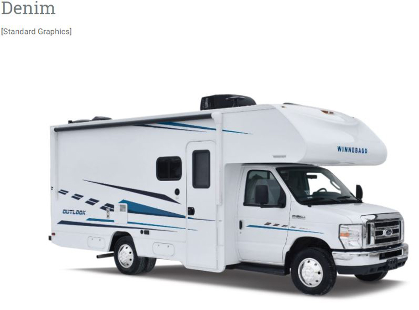 Winnebago Outlook Denim Exterior Option
