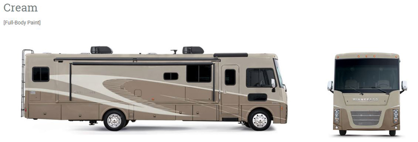 Winnebago Sightseer Cream Exterior