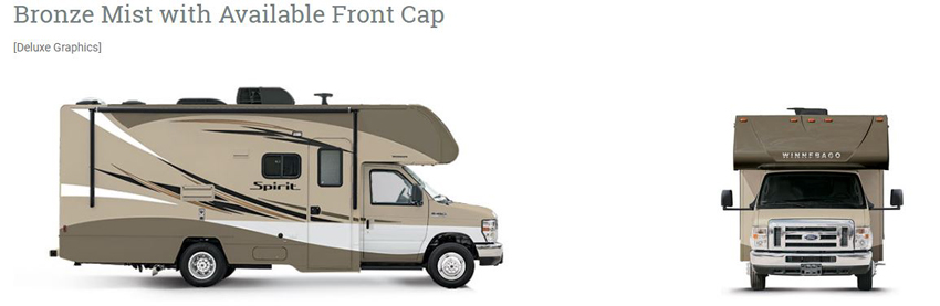 Winnebago Spirit Bronze Mist with Front Cap
