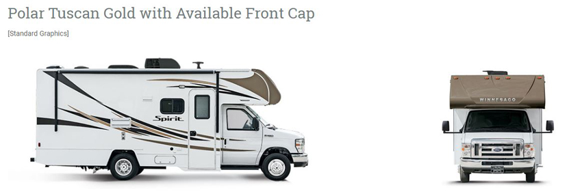 Winnebago Spirit Tuscan Gold with Front Cap