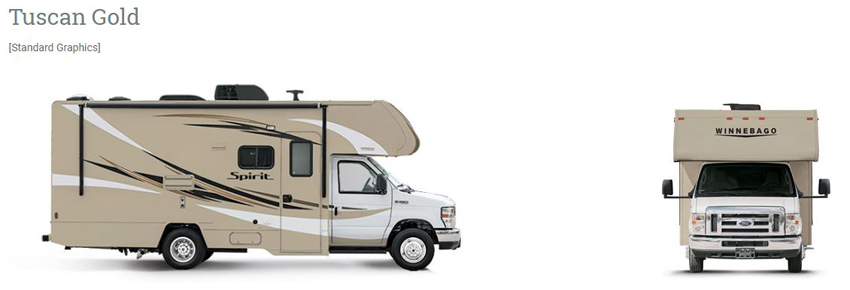 Winnebago Spirit Tuscan Gold