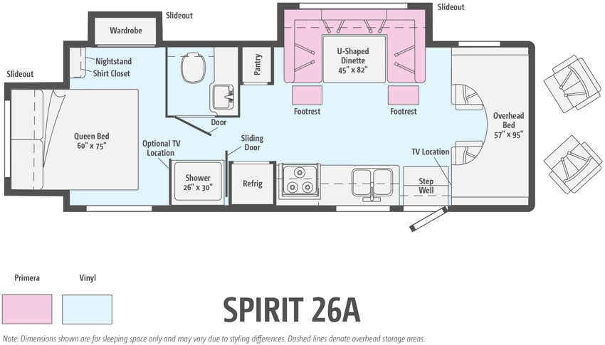 Winnebago Spirit 26A Floorplan