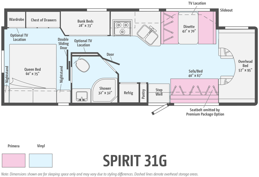 Winnebago Spirit 31G Floorplan