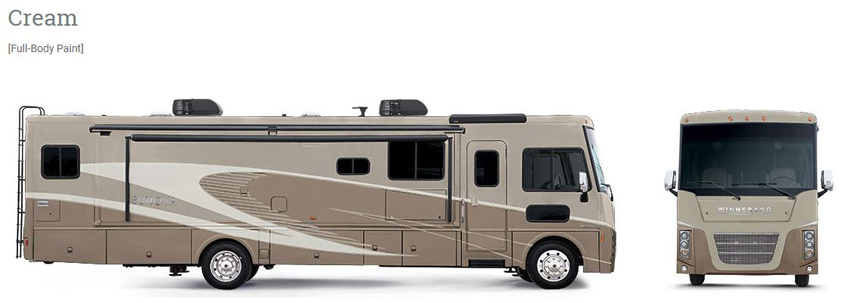 Winnebago Sunova Cream Exterior