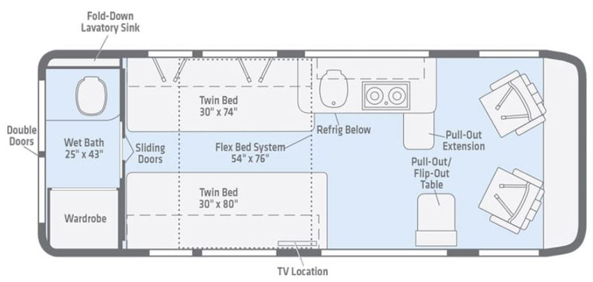 Winnebago Travato 59K Floorplan