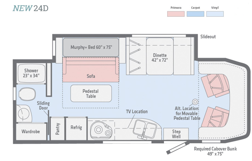 Winnebago View 24D Floorplan