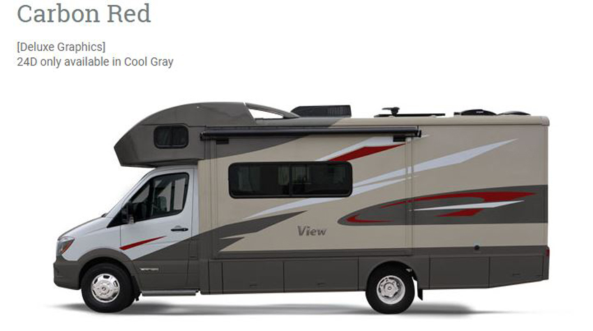 Winnebago View Carbon Red Exterior