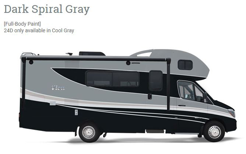 Winnebago View Dark Spiral Gray Exterior
