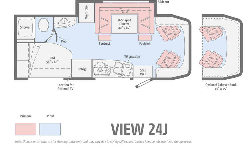 Winnebago View 24J Floorplan