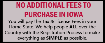 Lichtsinn RV Iowa Tax and License Fees