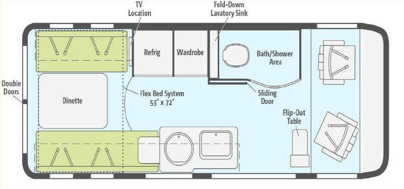 Winnebago Paseo Floorplans and Specifications | Details of the ...