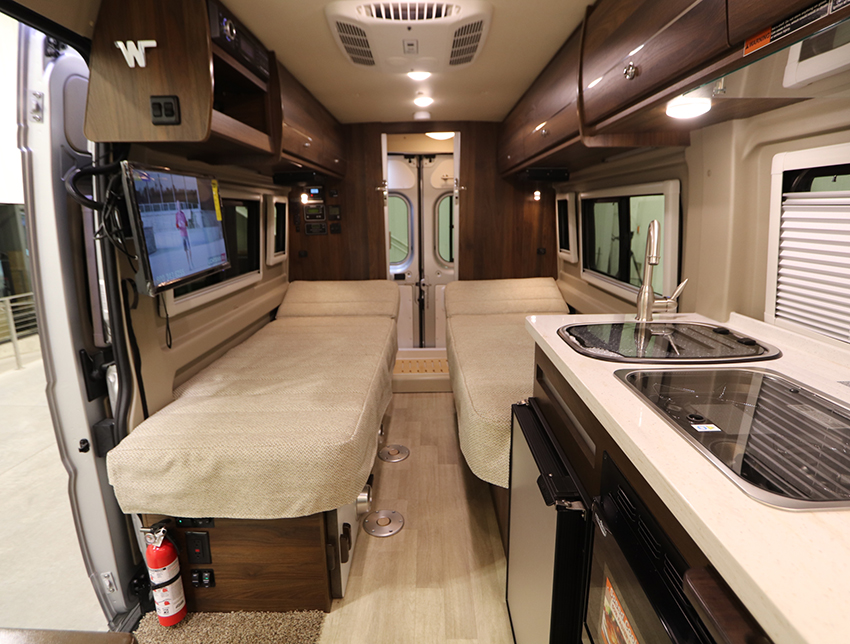 Upgraded Roof and Sidewall Insulation in the Winnebago Travato