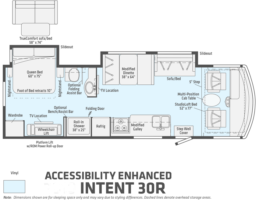 Winnebago Accessibility Enhanced Intent 30R
