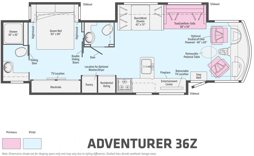 Winnebago Adventurer 36Z Floorplan